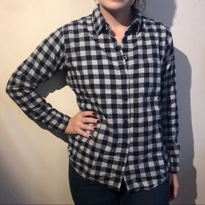 Uniqlo Navy and Gray Flannel